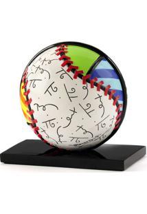 Escultura Romero Britto Bola Baseball Trevisan Concept