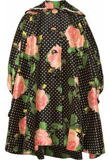 Richard Quinn Oversized Floral Polka-Dot Print Coat - Estampado