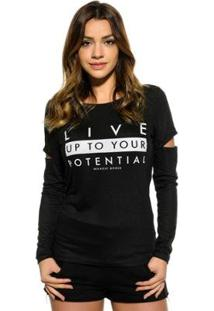 Blusa Red Nose Live Up Feminina - Feminino-Preto