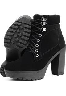 Ankle Boot Calçados Gb Tradorada Preta