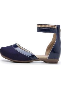 Sandalia Sapatilha Mule Top Franca Shoes Marinho