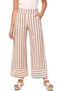 Calça Roxy Pantalona Wild Ideas Off-White/Bege