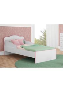 Mini Cama Doce Sonho Branco Com Rosa - Qmovi