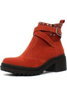 Bota Stephanie Damannu Shoes Feminina - Feminino-Marrom
