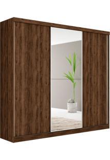 Guarda Roupa Casal Com Espelho Dubai 3 Pt 4 Gv Jacarandá