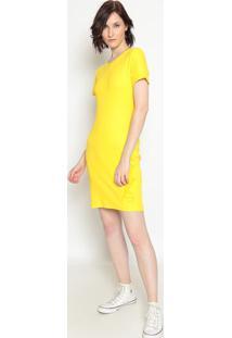 Vestido Canelado ''Zoomp''- Amarelo Amarelo Escurozoomp