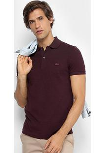 Camisa Polo Lacoste Piquet Regular Fit Masculina - Masculino-Bordô