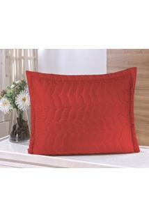 Porta Travesseiro Guga Tapetes Avulso Com Debrum Vermelho - Vermelho - Dafiti
