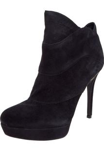 Ankle Boot Jorge Bischoff Couro Meia-Pata Preto