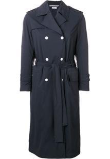 Thom Browne Nylon Shell Trench Coat - Azul