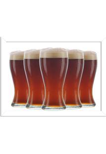 Quadro Decorativo Garagem Copos De Cerveja Geladas Branco - Grande