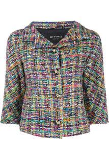 Etro Jaqueta Cropped De Tweed - Neutro