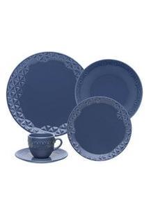 Aparelho De Jantar E Chá 30 Peças Mia Mare Azul