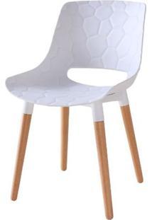 Cadeira Olivia Branca Base Madeira - 50073 - Sun House