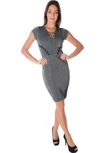 445f97b319 Vestido Decote V Trancado feminino