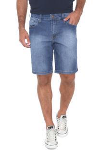 Bermuda Jeans Colcci Reta Davi Azul