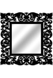 Espelho De Parede 14850P Preto 70X70 Art Shop
