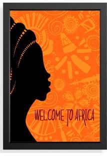 Quadro Decorativo Welcome To Africa Preto