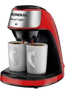 Cafeteira Elétrica Mondial Smart Coffee C-42-2X-B Vermelha 2 Xícaras - 127V