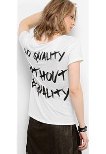 Camiseta Drezzup Botonê Equality Feminina - Feminino