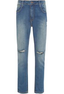 Calça Masculina Skinny Capri Rockwall 3D - Azul
