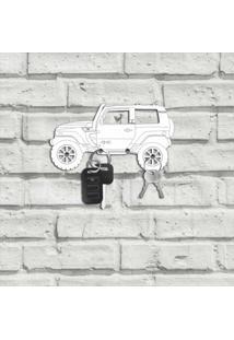 Porta Chaves Carro Troller Branco Único
