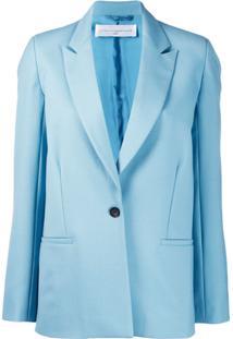 Victoria Victoria Beckham Jaqueta Slim Clássica - Azul