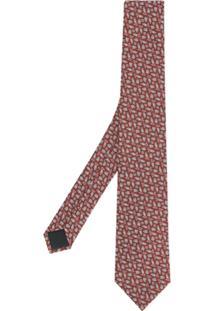 Cerruti 1881 Gravata De Seda Estampada - Vermelho