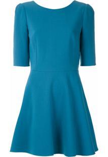 Dolce & Gabbana Vestido Curto Godê - Azul
