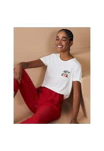 Amaro Feminino T-Shirt Slim Just Be Cool, Off-White