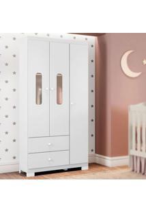 Guarda Roupa Infantil Sonhos 3 Portas Branco Móveis Estrela