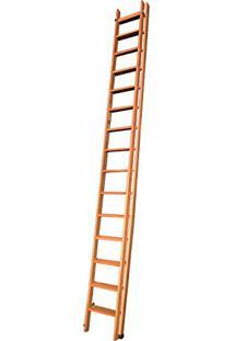 Escada Extensiva 15 Degraus Eucalipto/Verniz Rowma