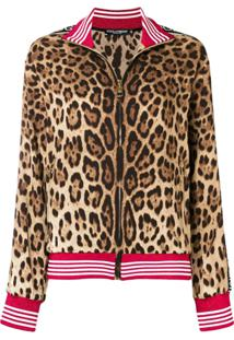 Dolce & Gabbana Jaqueta Com Estampa Leopardo - Neutro