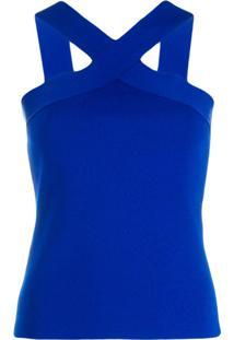 P.A.R.O.S.H. Blusa Com Alças Cruzadas - Azul