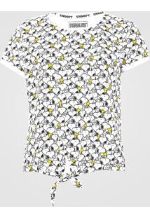 Blusa Fiveblu Snoopy Branca - Kanui