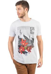 Camiseta Estampada Taco Masculina - Masculino-Cinza