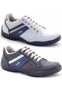 Sapatênis Polo Blu Masculino - Masculino-Branco+Preto