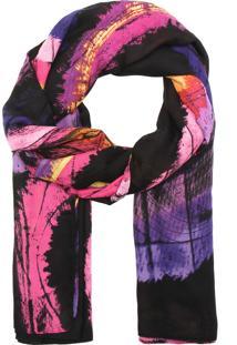 Lenço Desigual Romanceball Rosa