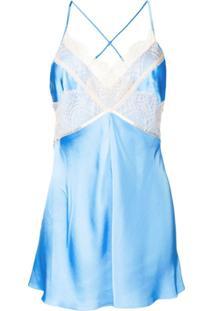 Victoria Beckham Blusa Com Renda - Azul