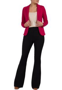 Blazer Malha Mx Fashion Pandora Pink