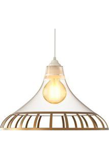 Luminária Pendente Spirit Combine 1400 Transparente Ouro
