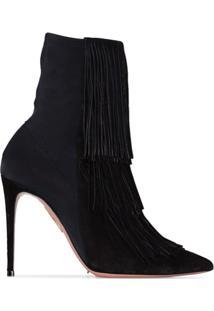 Aquazzura Ankle Boot 'Shake 105' - Preto