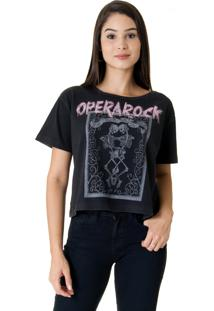 Blusa Opera Rock Top Preta