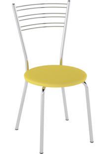 Kit C/ 2 Cadeiras Assento Amarelo Pozza