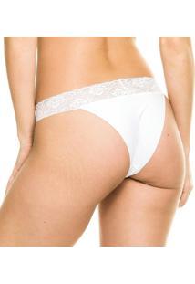Calcinha Tanga Renda Branco - 406.0210 Marcyn Lingerie String Branco