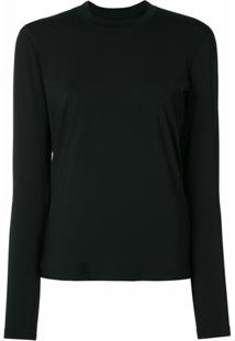 James Perse Blusa De Tricô Cool Touch - Preto