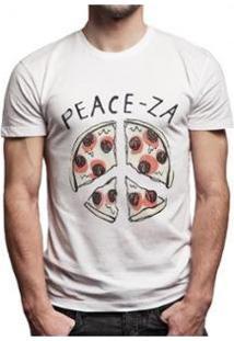 Camiseta Joss Peace-Za Masculina - Masculino-Branco