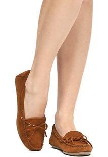 Mocassim Couro Shoestock Amarração Feminino - Feminino