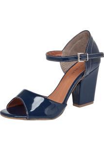 Sandália Fiveblu Salto Médio Azul