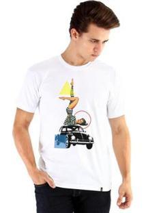 Camiseta Ouroboros Manga Curta Pinbetle 2 - Masculino-Branco